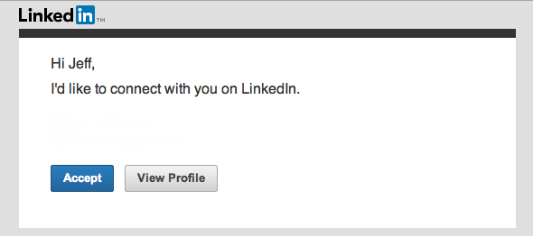 Standard LinkedIn Request to Connect box